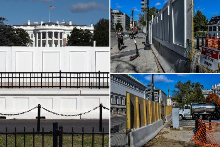 Makeshift walls put up around White House